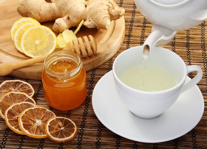 Чайный гриб с лимоном