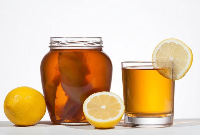 Комбуча с лимоном